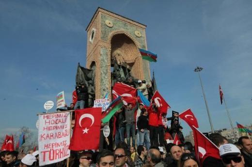 karabag - Hocalı Katliamına Taksimde Dev Protesto