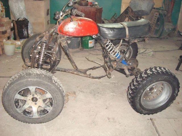 Мотоцикл на трех колесах своими руками