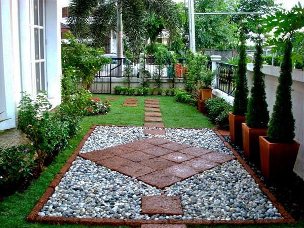 En iyi şekilde organize edilmiş dekoratif bahçe taşlari
