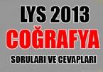 LYS 2013 Coğrafya Soruları ve Cevapları