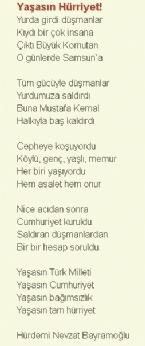 CUMHURIYET BAYRAMı - 29 Ekim Cumhuriyet Bayramı Şiirleri