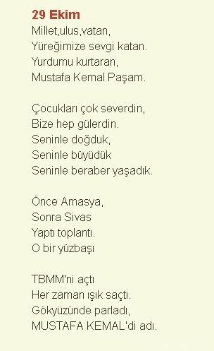 29 Ekim Şiirleri – Cumhuriyet Bayramı 11