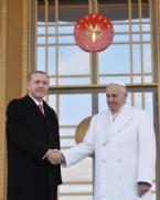 Papa Franciscus, Cumhurbaşkanlığı Sarayı'nda