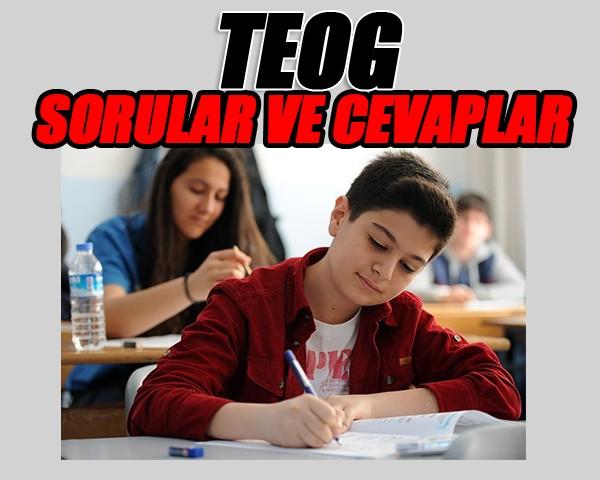 matematik - TEOG 8. Sınıf Liseye Geçiş Sınavı Soruları ve Cevaplar