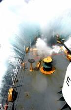 Savaş Gemisinin Denizle Mücadelesi