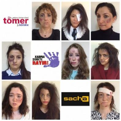 Kadına Yönelik Şiddete Karşı Makyajlı Eylem