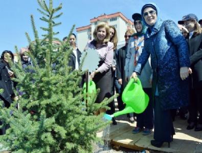 Emine Erdoğan Fidan Dikimi Törenine Katıldı