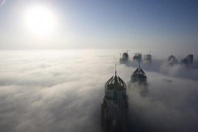 Bulutların ardında kalan şehirler
