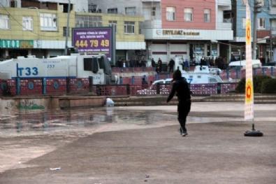Amedspor Taraftarı Polise Saldırdı