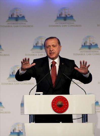 Cumhurbaşkanı Recep Tayyip Erdoğan Uluslararası İstanbul Hukuk Kongresinde Konuştu