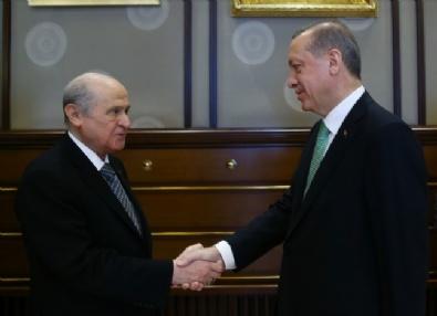 Cumhurbaşkanı Erdoğan, Bahçeliyi Kabul Etti