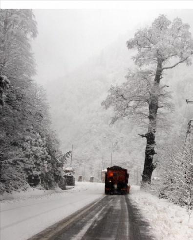 Ayder Yaylası'nda kar yağışı