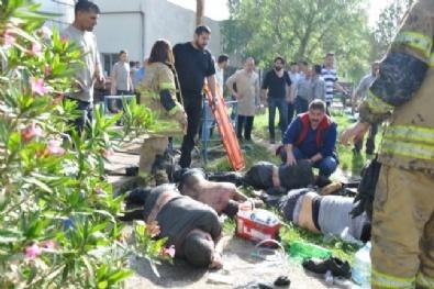 KİMYASAL MADDE - İzmir'de altı işçi kimyasal kazanın içine düştü