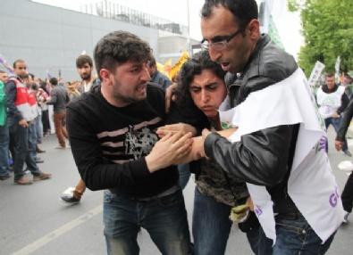 Öcalan Posteriyle Alana Girmek İsteyen HDP'li Gruba Müdahale