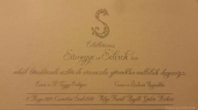 SÜMEYYE ERDOĞAN - İşte Sümeyye Erdoğan'ın nikah davetiyesi