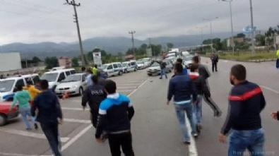 KARADENIZ - Havaya ateş açan polislere taş yağmuru