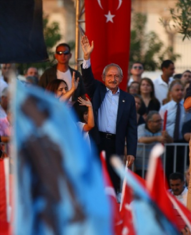 İzmir'de Cumhuriyet Ve Demokrasi Mitingi