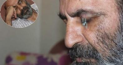 PROTESTO - İranlı sığınmacı bu kez de göz kapağını dikti