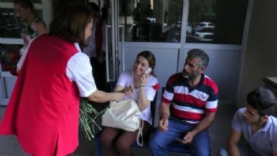 GATAnın İlk Sivil Hastaları Çiçeklerle Karşılandı