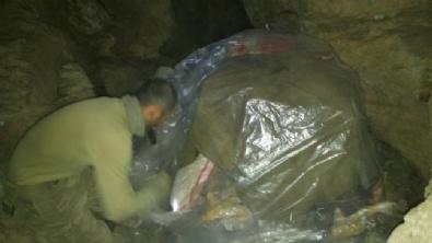 Terör Örgütü PKK'nın Mağarasından Görüntüler