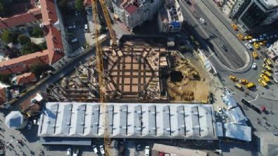 Taksim'e Yapılan Cami Yükseliyor