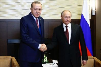 Cumhurbaşkanı Erdoğan, Putin'le bir araya geldi