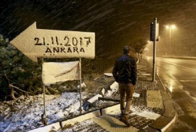 Ankara'da Mevsimin İlk Karı Yağdı