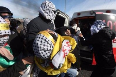 İsrail'in Göstericilere Müdahalesinde 163 Filistinli Yaralandı