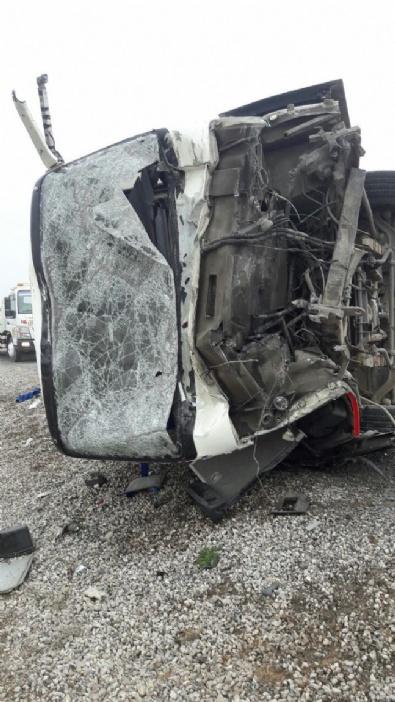 KARAKAYA - Kayseri Bünyan'da korkunç kaza!