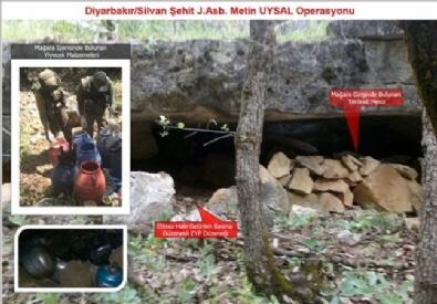 Silvan'da PKK'ya Ait Cephanelik Ele Geçirildi