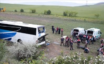Ankara - Çankırı Karayolunda Otobüs Kazası