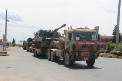 AFRİN - Suriye Sınırına Fırtına Obüs İle Topçu Bataryaları Sevk Edildi