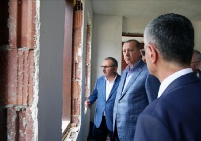 Cumhurbaşkanı Erdoğan memleketinde! İncelemelerde bulundu, bilgi aldı