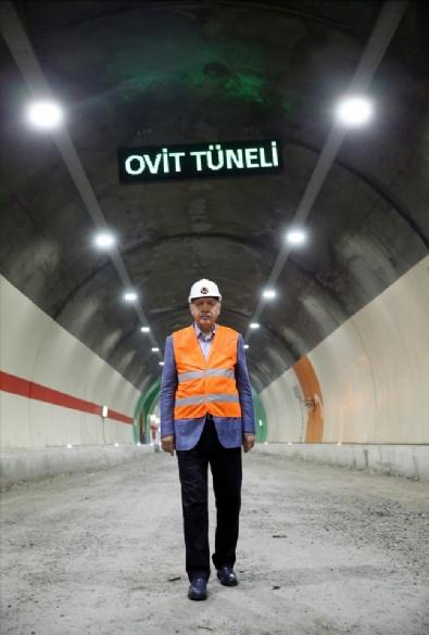 Cumhurbaşkanı Erdoğan Ovit Tüneli'nde