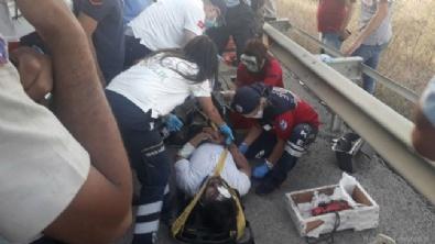 ZİNCİRLEME KAZA - Anız yangını zincirleme kazaya neden oldu: 34 yaralı