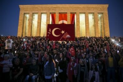 Cumhuriyet 95 Yaşında! Anıtkabirde Atatürke Sevgi Seli