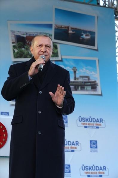 Erdoğan, Üsküdarda Toplu Açılış Törenine Katıldı