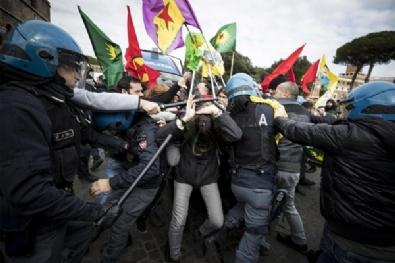 PKK yandaşları Roma'yı savaş alanına çevirdi!