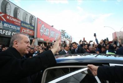 Cumhurbaşkanı Erdoğan'dan esnafa sürpriz ziyaret