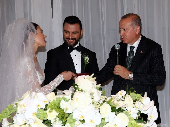 recep tayyip erdogan - Alişan ve Buse Varol evlendi! İşte düğünden ilk kareler