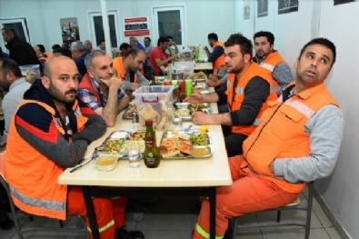 Dev Projenin Emekçileri İftar Ve Sahuru Şantiyede Yapıyor