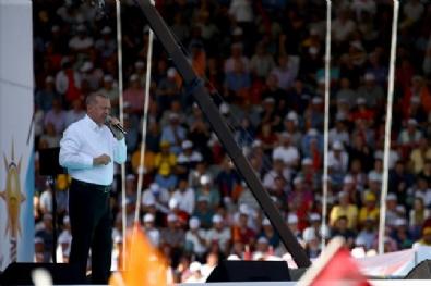 Cumhurbaşkanı Erdoğan, Ankarada Düzenlenen Mitingde Halka Hitap Etti