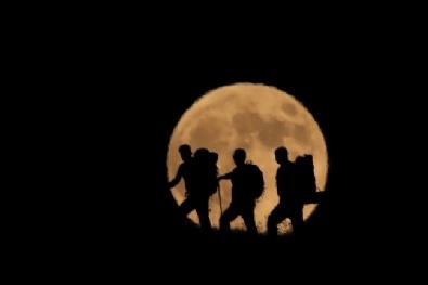 Türkiyeden Kanlı Ay Tutulması Manzaraları