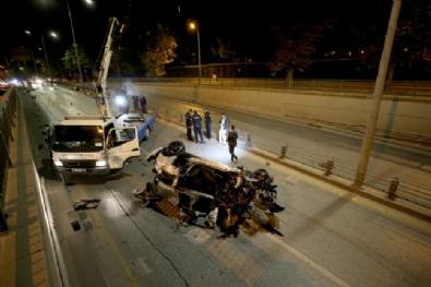 Ankarada Trafik Kazası: 2 Ağır Yaralı