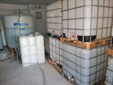 Başkentte Sahte İçki Üretiminde Kullanılan 24 Ton Etil Alkol Ele Geçirildi
