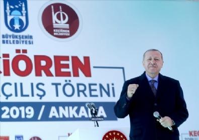Erdoğan, Ankara Keçiörende Toplu Açılış Töreninde Konuştu