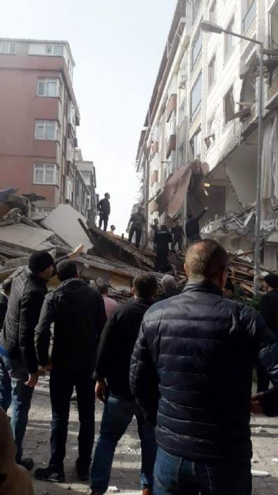 İstanbulda 7 Katlı Bir Bina Çöktü!