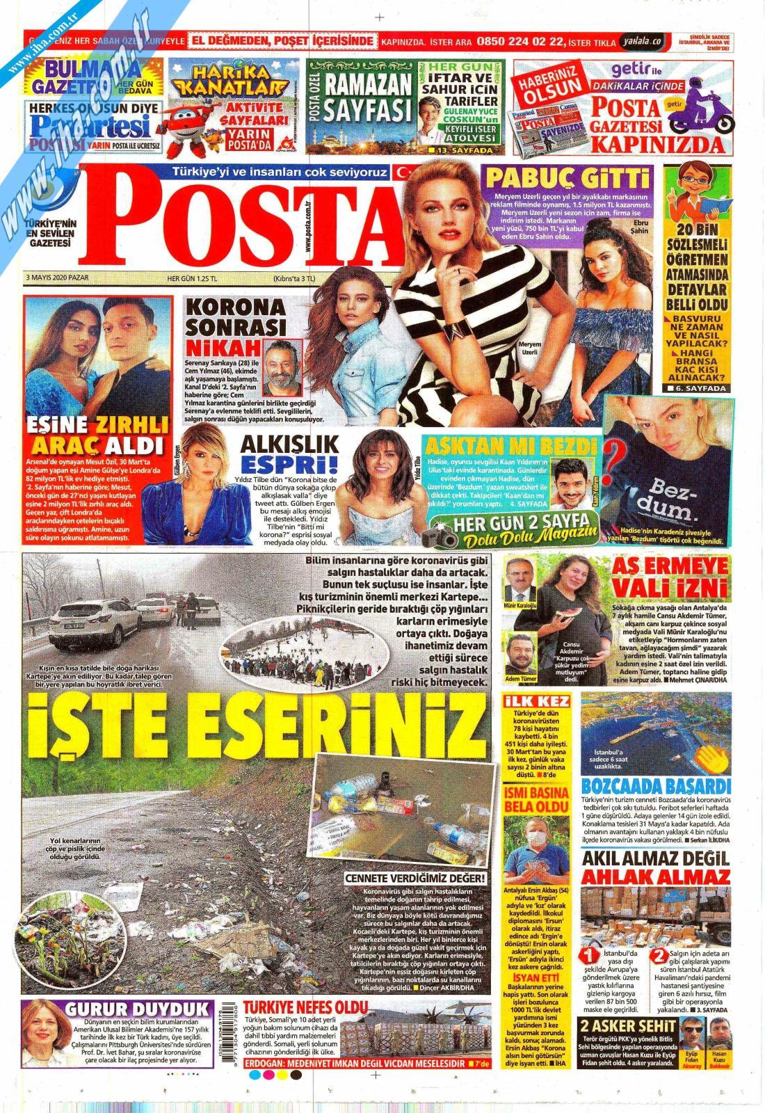 Posta Gazete Manşeti