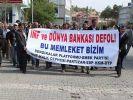 IMF toplantıları Tunceli'de de protesto edildi