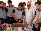 Polis adayları 'Ebru' sanatı eğitimi alıyor